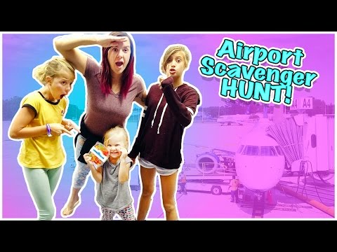EPIC AIRPORT SCAVENGER HUNT! WHO GETS THE BEST SELFIE?!