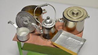 посуда для кухни (кукольная миниатюра)
