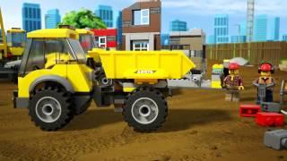 Lego City 60076 Лего Город Снос старого здания(троители используют всю свою мощную технику для сноса ряда заброшенных домов, им нужна помощь. Забирайся..., 2015-03-02T11:15:59.000Z)