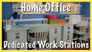 Home Office: Dedicated Work Stations (grooming Desk & Sewing Desk Organization)