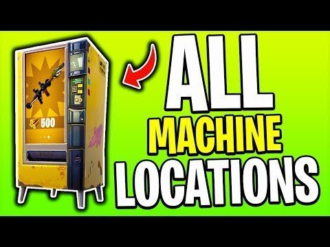 ALL VENDING MACHINE LOCATIONS In Fortnite Battle Royale!