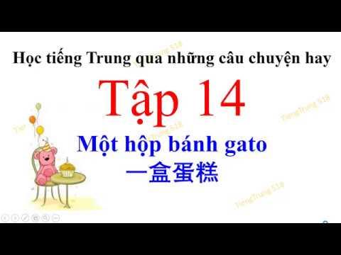 Tiếng Trung 518 – Học tiếng Trung qua những câu chuyện hay – Tập 14 – Một hộp bánh gato