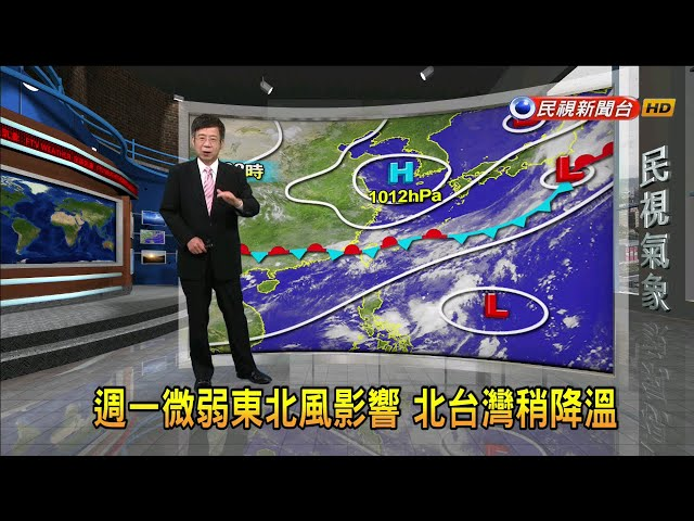 2019/06/24 週一微弱東北風影響 北台灣稍降溫-民視新聞