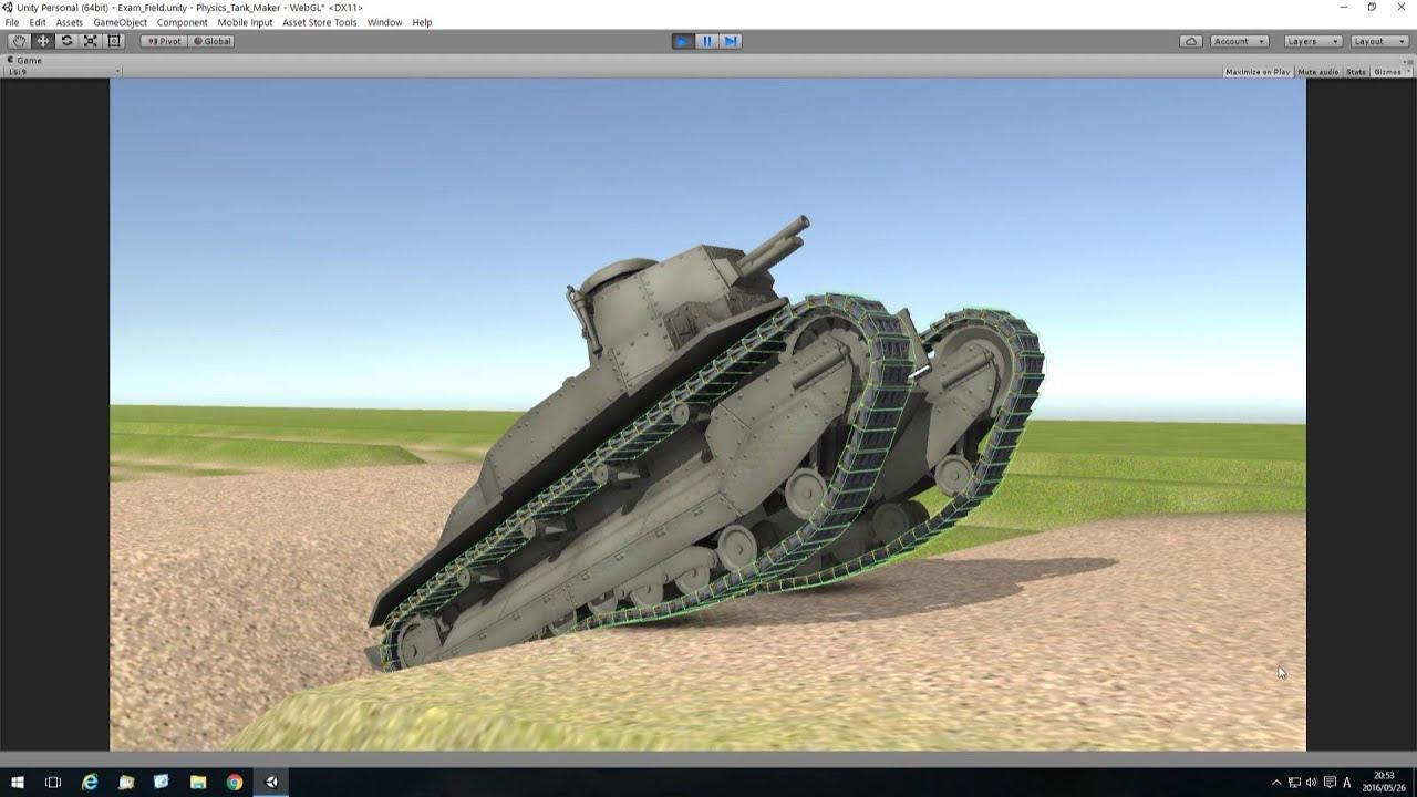 【Unity 3D】Physics Tank Tracks