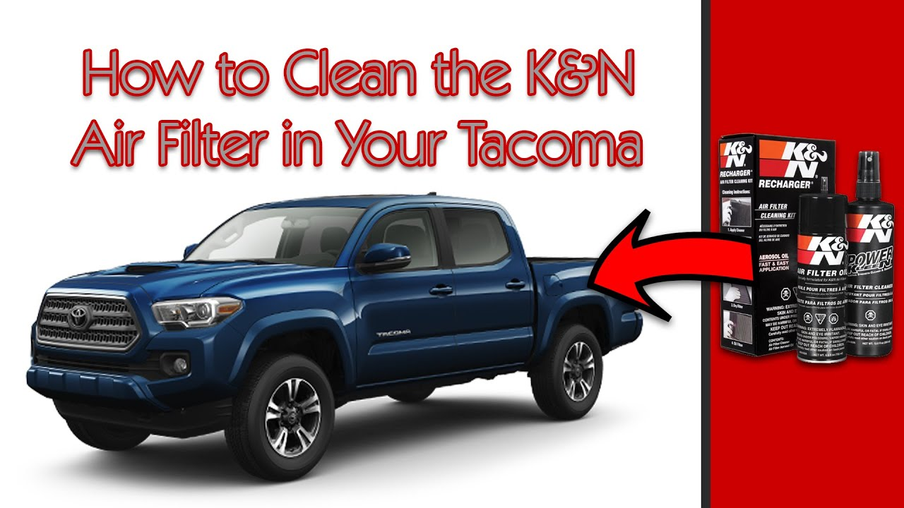 2009 toyota tacoma prerunner how to clean reusable k n lifetime air filter youtube
