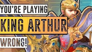 SMITE: You're Playing King Arthur WRONG! - Common Misconceptions & Mistakes