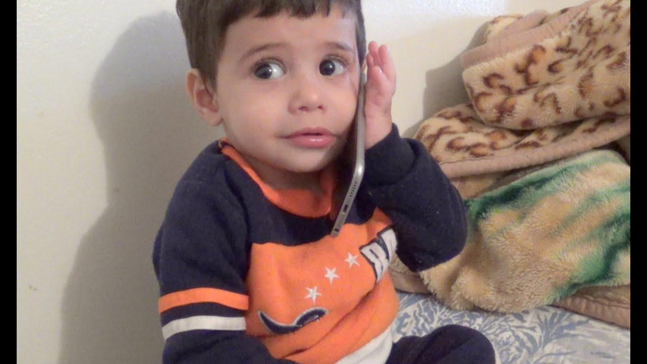Baby Talks On The Phone