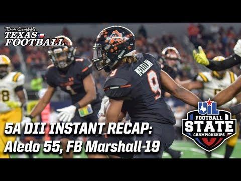 Aledo 55, Fort Bend Marshall 19: 2018 5A DII Texas high school football championship recap