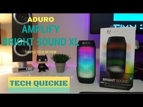 Aduro Amplify Bright Sound XL Bluetooth Wireless Speaker