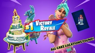 HOW TO GET THE BIRTHDAY CAKE BACK BLING - Fortnite Battle Royale (All 10 Cake Locations)