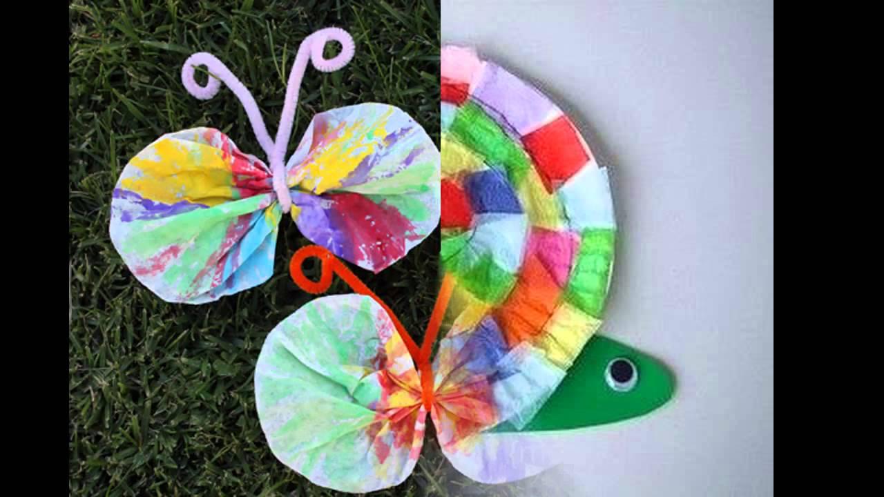 Easy DIY spring crafts for kids - YouTube