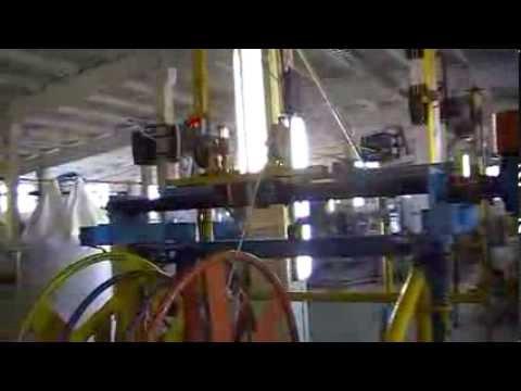 видео: Экструзионная линия в работе (производство провода)