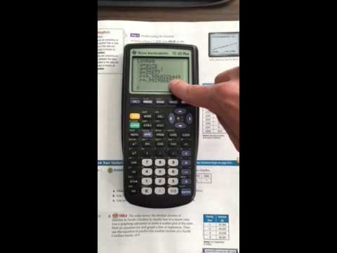 Using TI-83 Plus to find linear regression equation and pred