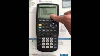 Using TI-83 Plus t๐ find linear regression equation and predict values