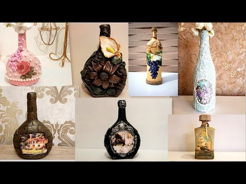 7 glass bottle ideas / Diy recycled glass bottles