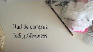 Haul de compras Tedi & Aliexpress ( Scrapbooking )