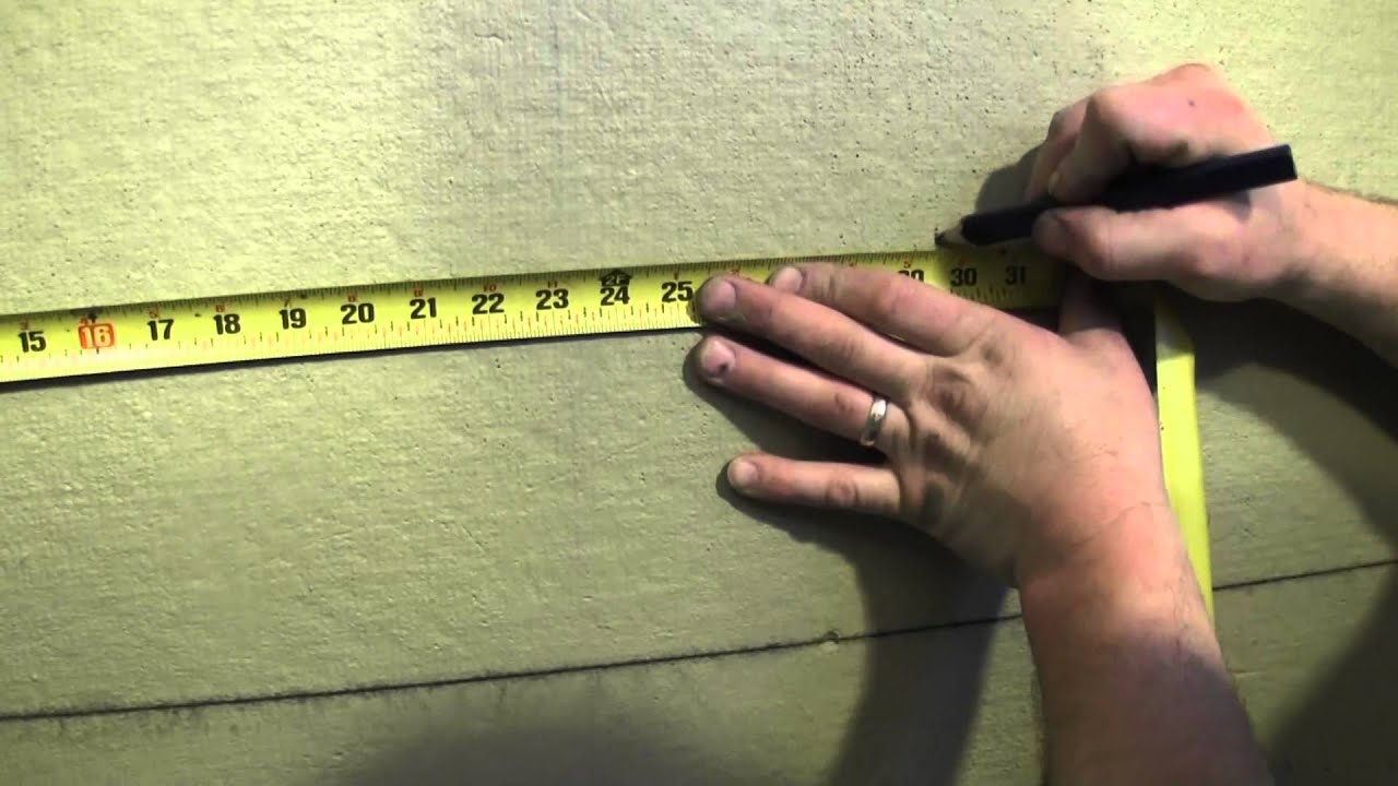 How to tile a shower wall - Tile Layout - YouTube