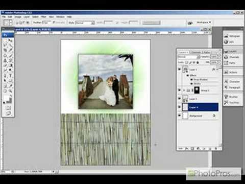 Photoshop - Smart Object Greeting Card Template - YouTube