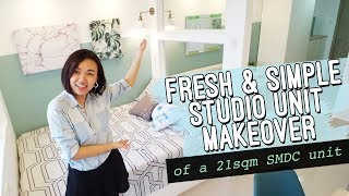 Simple Studio Unit Makeover // SMDC 21 sqm unit // Scandinavian Inspired // by Elle Uy