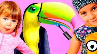 ПРИЧЕСКА ЧЕЛЛЕНДЖ салон красоты для ЖИВОТНЫХ мультяшное развлекательное видео для детей