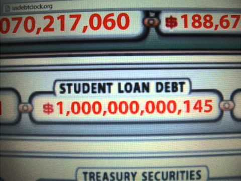 Student loan debt reaches 1 Trillion USD