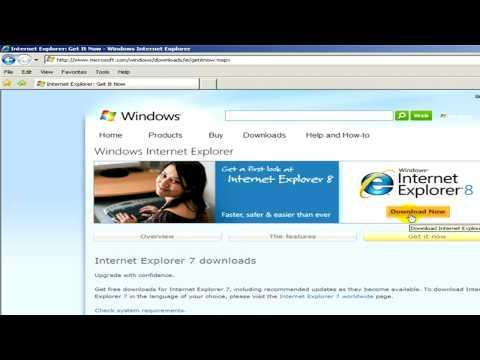 Internet Downloading : How To Download Internet Explorer
