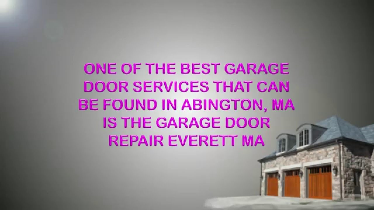 Garage Door Repair Everett Ma 800 884 4716 Youtube