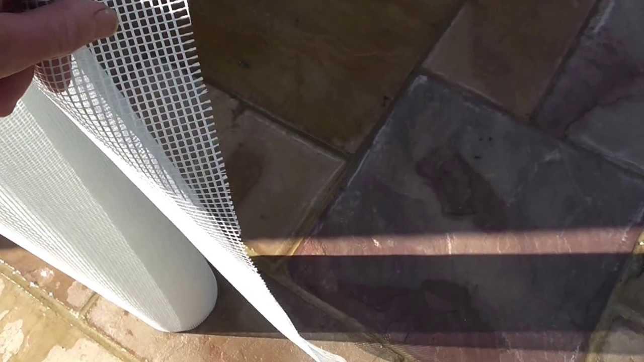 Fiber glass mesh reinforced render - YouTube