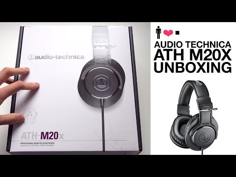Audio Technica ATH-M20X Studio Monitor Headphone Unboxing