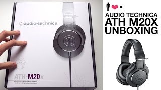 Audio Technica ATH-M20X Studio Monitor Headphone Unboxing