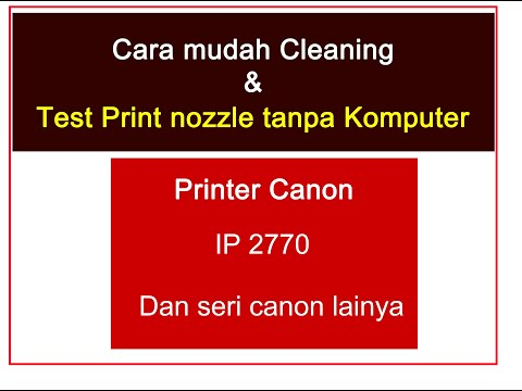 Cleaning Printer Canon IP 2770 On MAC OS X..