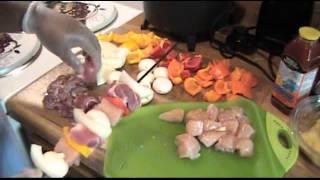 Kirby Que - Sweet & Sour Pork Shish Kabobs.wmv