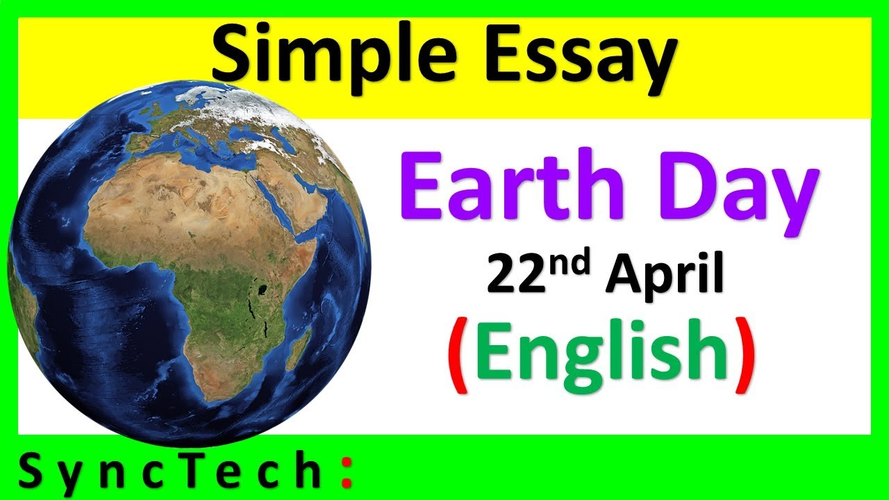 Essay on Earth Day for Class 3 - WorkSheets Buddy