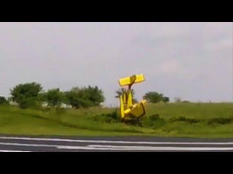 Crash Of Experimental Kit Plane Immediately After Takeoff