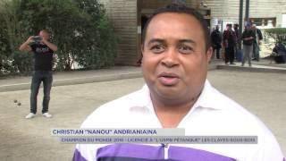 Pétanque : un champion malgache aux Clayes-sous-Bois