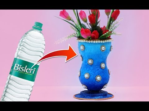 Easy Best Out Of Waste Craft Flower Vase Recycled Plastic Bottle