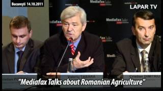 Mediafax Talks about Agriculture - ministrul Valeriu Tabara