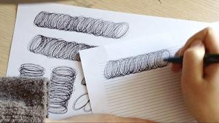 Каллиграфическое упражнение ручкои¶.