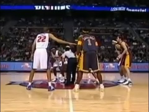 2004-11-19 Indiana Pacers vs Detroit Pistons(Motor City Brawl) - YouTube e6c5ee486