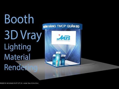 MB Bank 3D Booth Lighting Design 3Dsmax Design chiếu sáng và kết xuất hình  Lighting Rendering