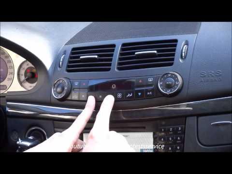 Mercedes W211 How to use hidden air condition (AC)  menu