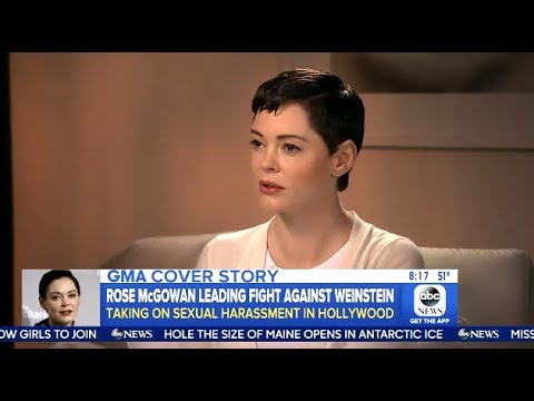 Rose Mcgowan  Calling For  Weinstein's Board To Resign  GMA