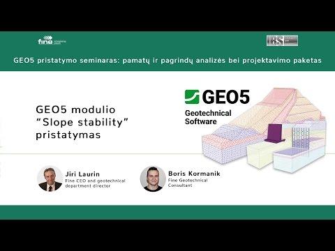 "Presentation of GEO5 module ""Slope stability"" - YouTube"
