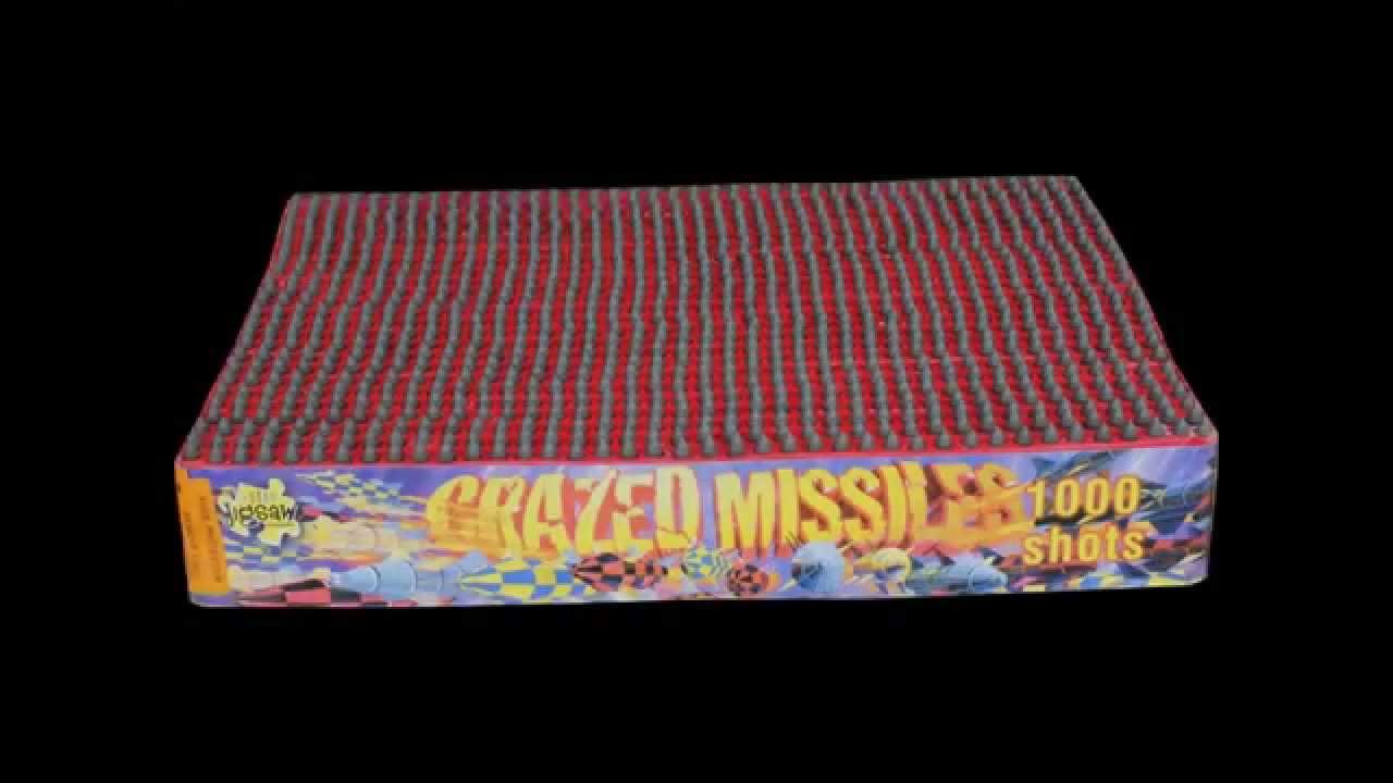Crazed Missile 1000 shot -Temple Fireworks