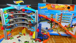 Biggest Hot Wheels Ultimate Garage Ever With Shark Attack Ramp And Car Race