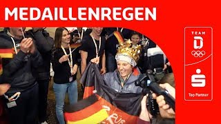 Medaillenregen in PyeongChang und das Deutsche Haus feiert   Team Deutschland