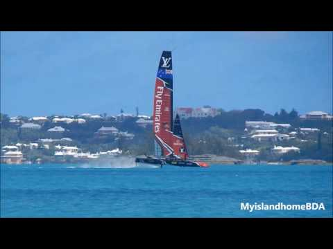Oracle Team USA and Emirates Team New Zealand practicing 6.22.17 -  3