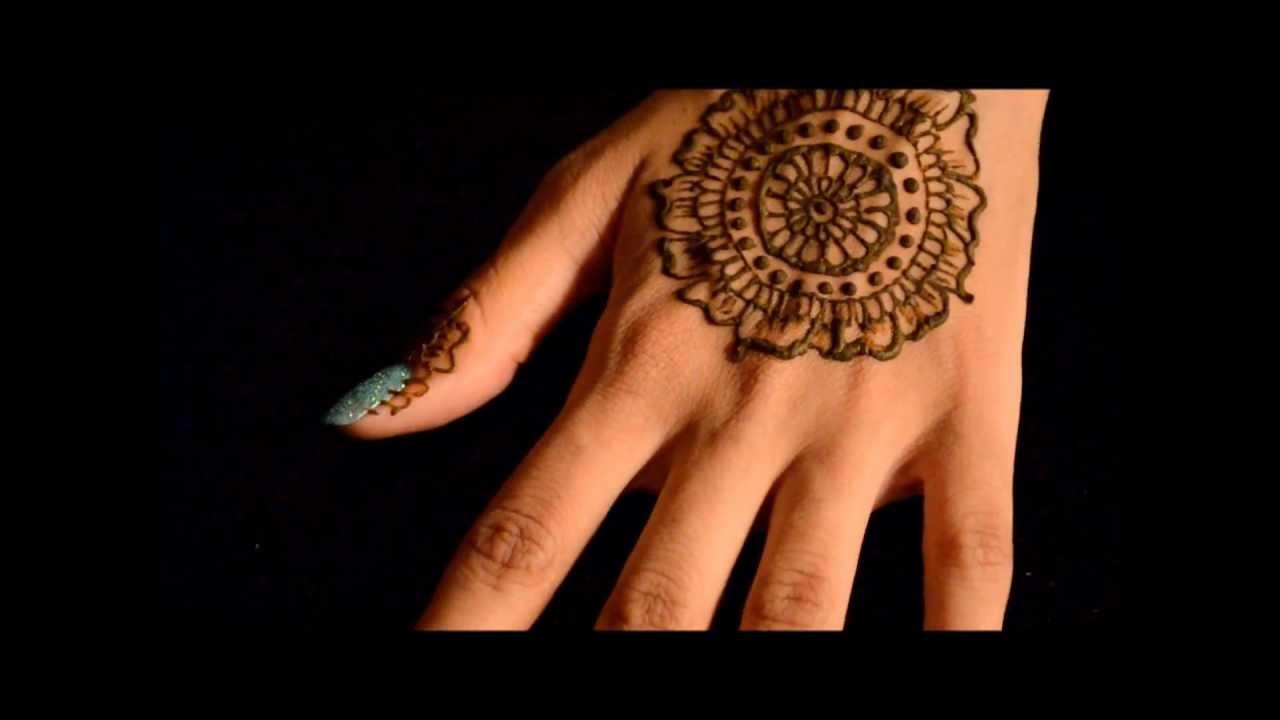 Marvelous Mehndi Easy Mandala Henna Design Youtube