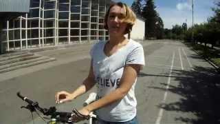 Уроки езды на велосипеде. Елена.