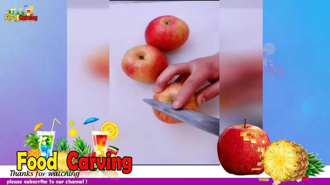 TRICKS WITH FRUITS AND VEGGIES | Fruit Carving And Cutting Tricks #1